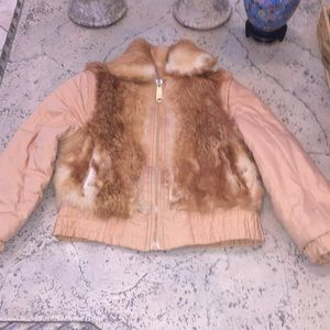 Tan with fur with zip off arms for a vest!